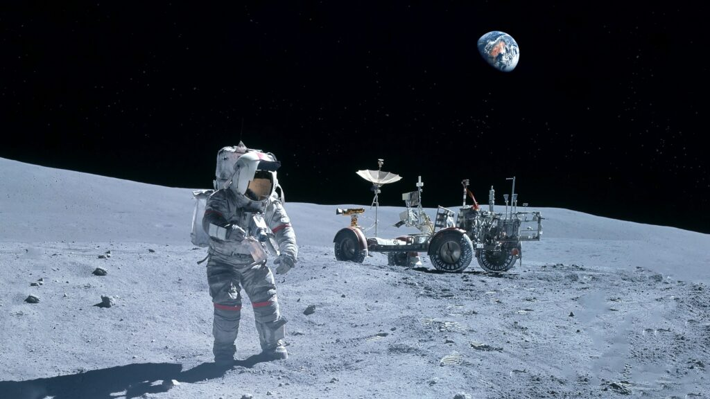 lunar rover on the moon